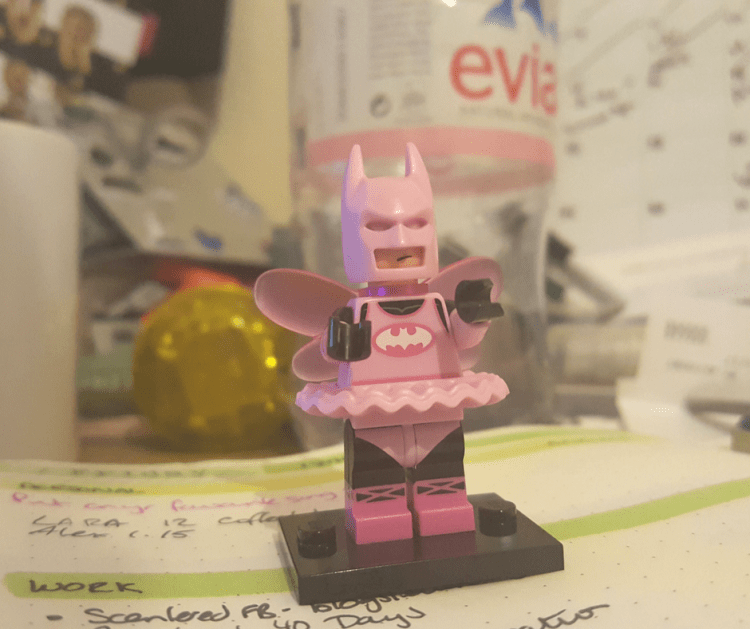 Lego Batman on desk