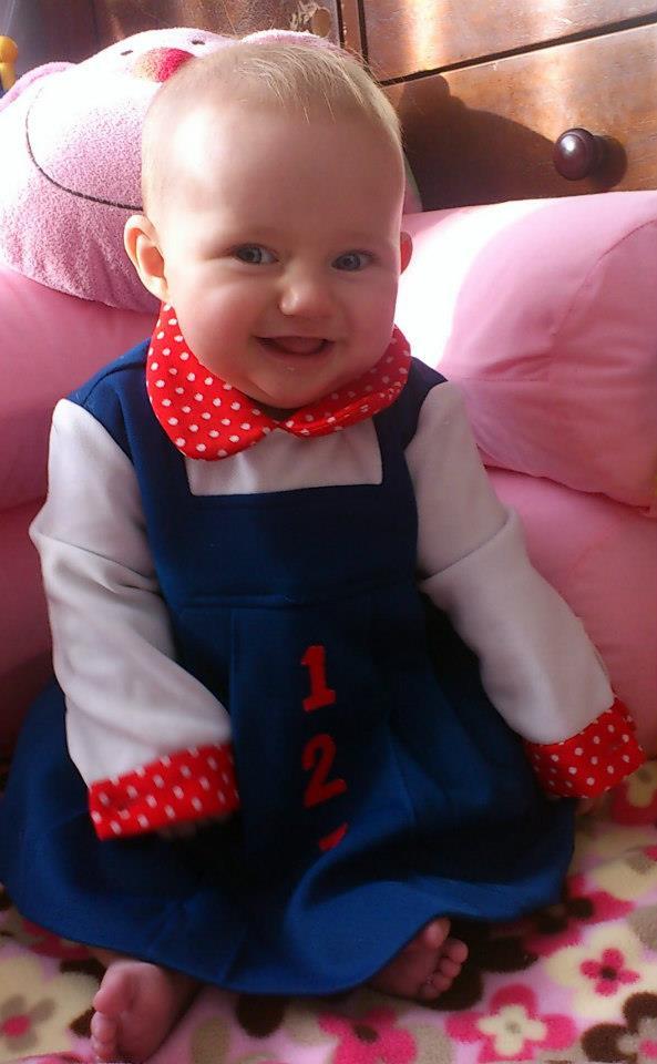 1980s baby dress