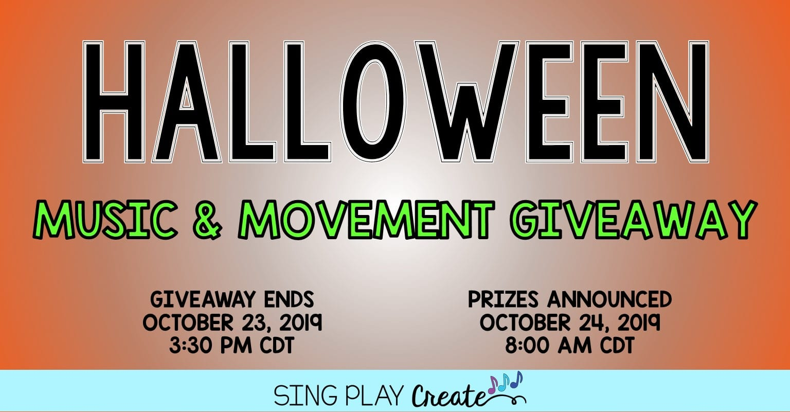 Halloween Music And Movement Giveaway