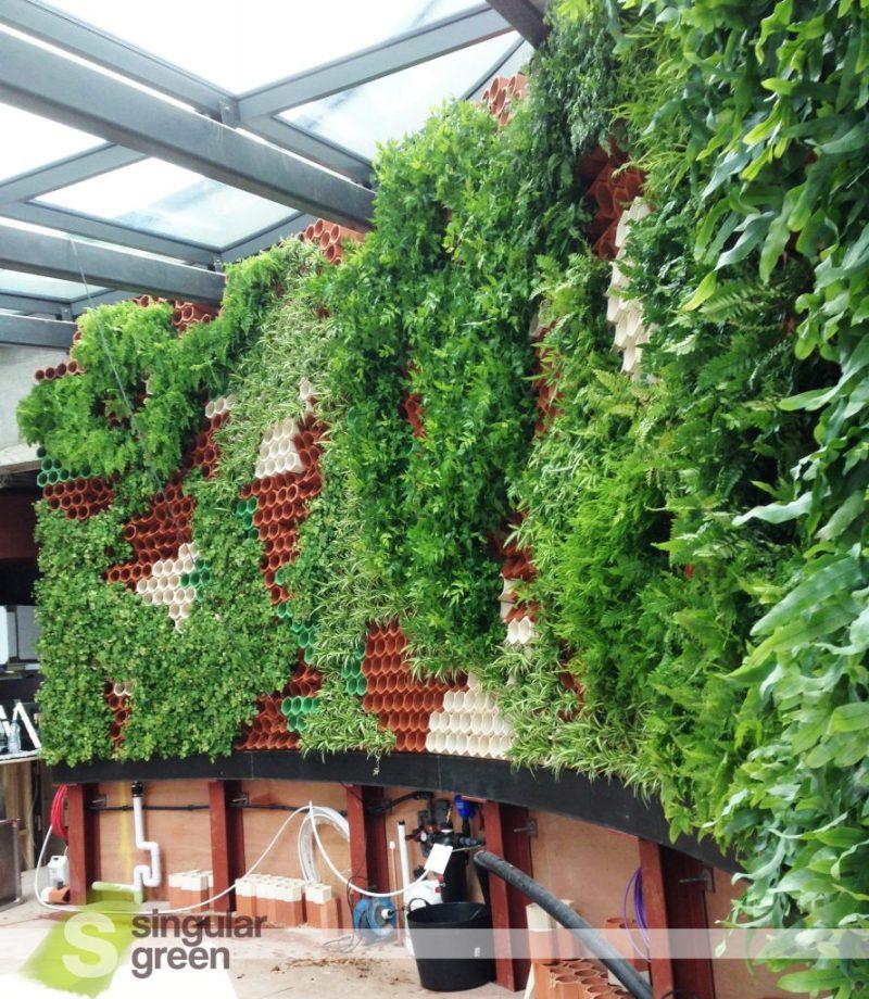 Jardín vertical en Londres - Vista lateral