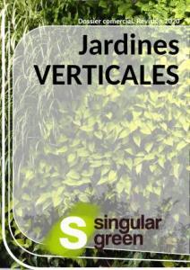 Catálogo con trabajos y descripciones de jardin vertical natural