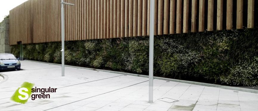 Jardín Vertical de exterior en Bilbao