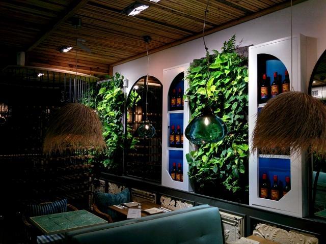 Jardín vertical de interior en Mallorca