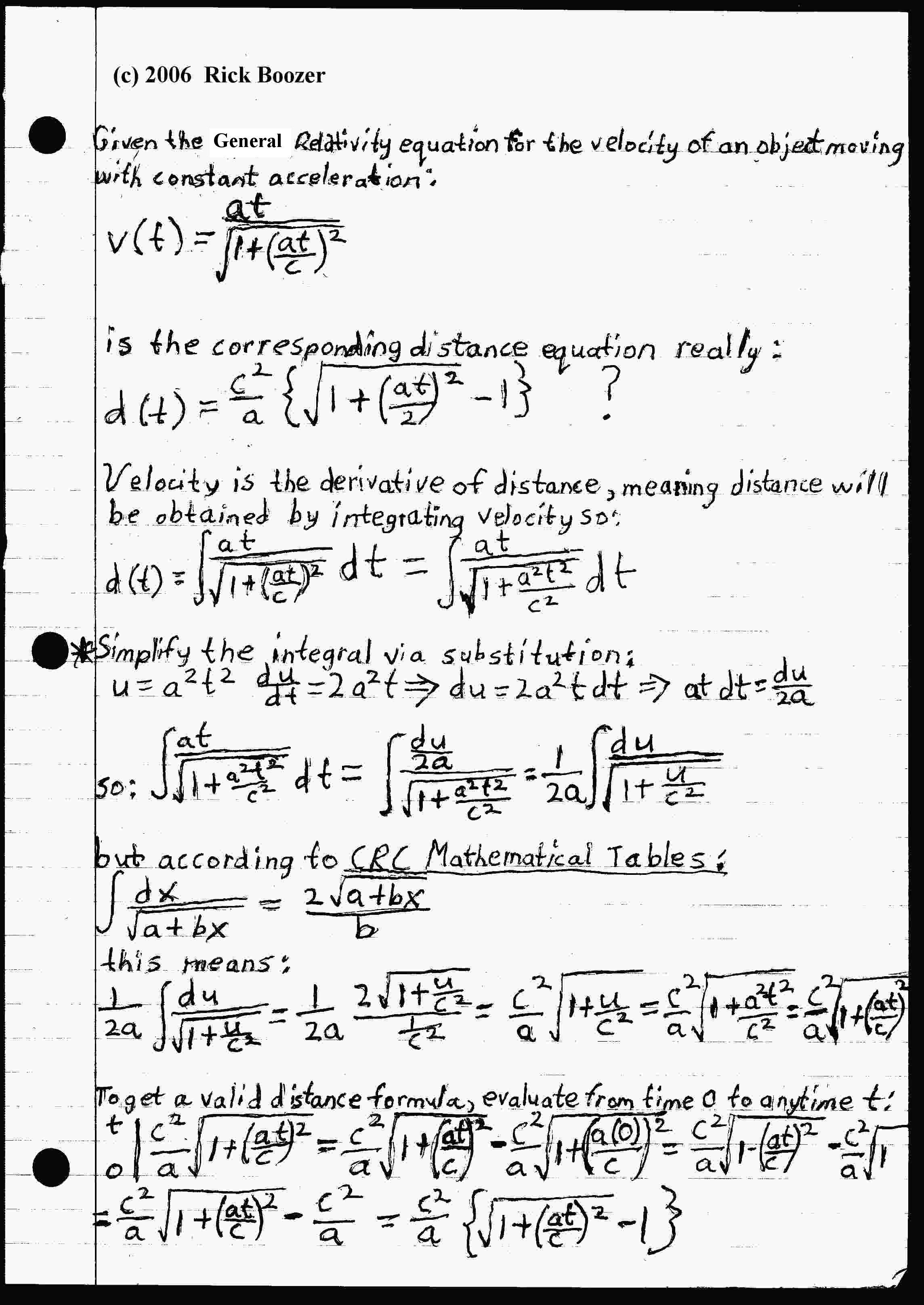 Einstein Field Equations Derivation