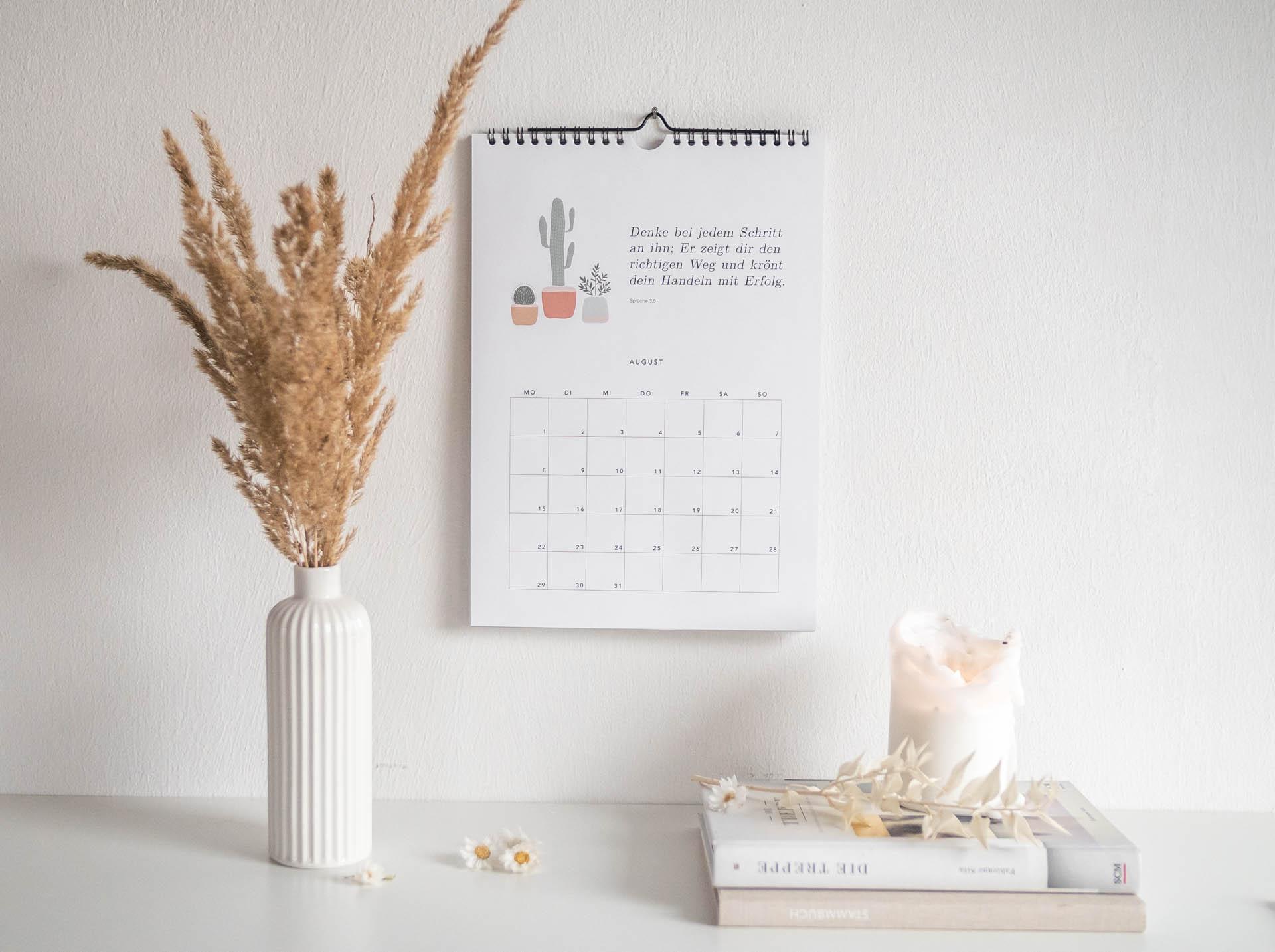 Wandkalender 2022 Denke bei jedem Schritt an ihn