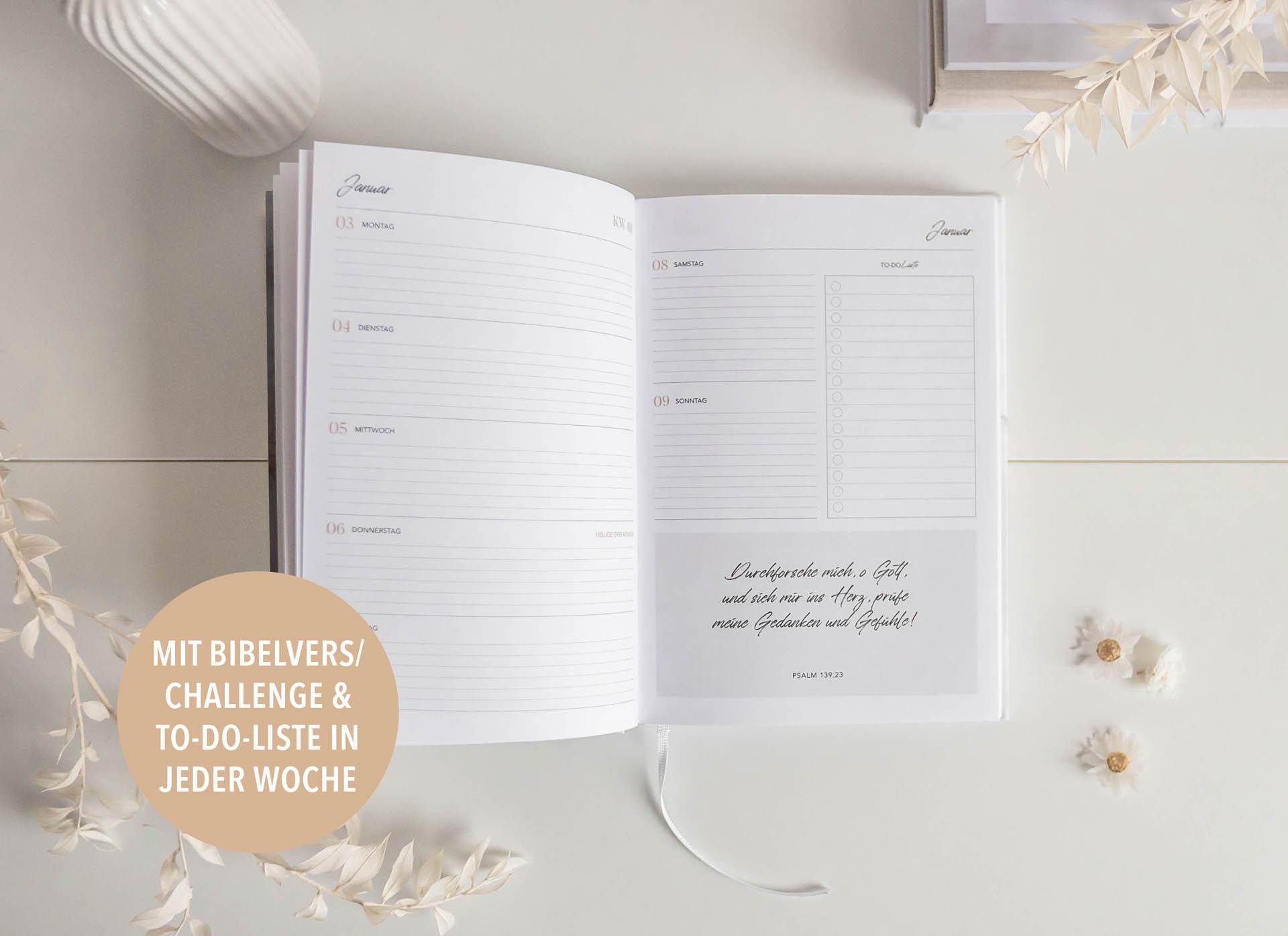 Christlicher Terminplaner 2022 »Seasons of Peace« Biblevers
