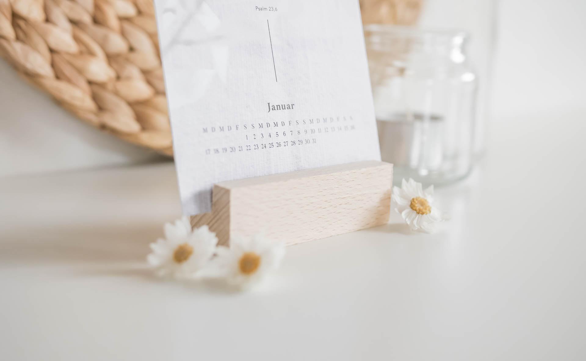 Postkartenkalender_Bibelvers_Holzkartenständer