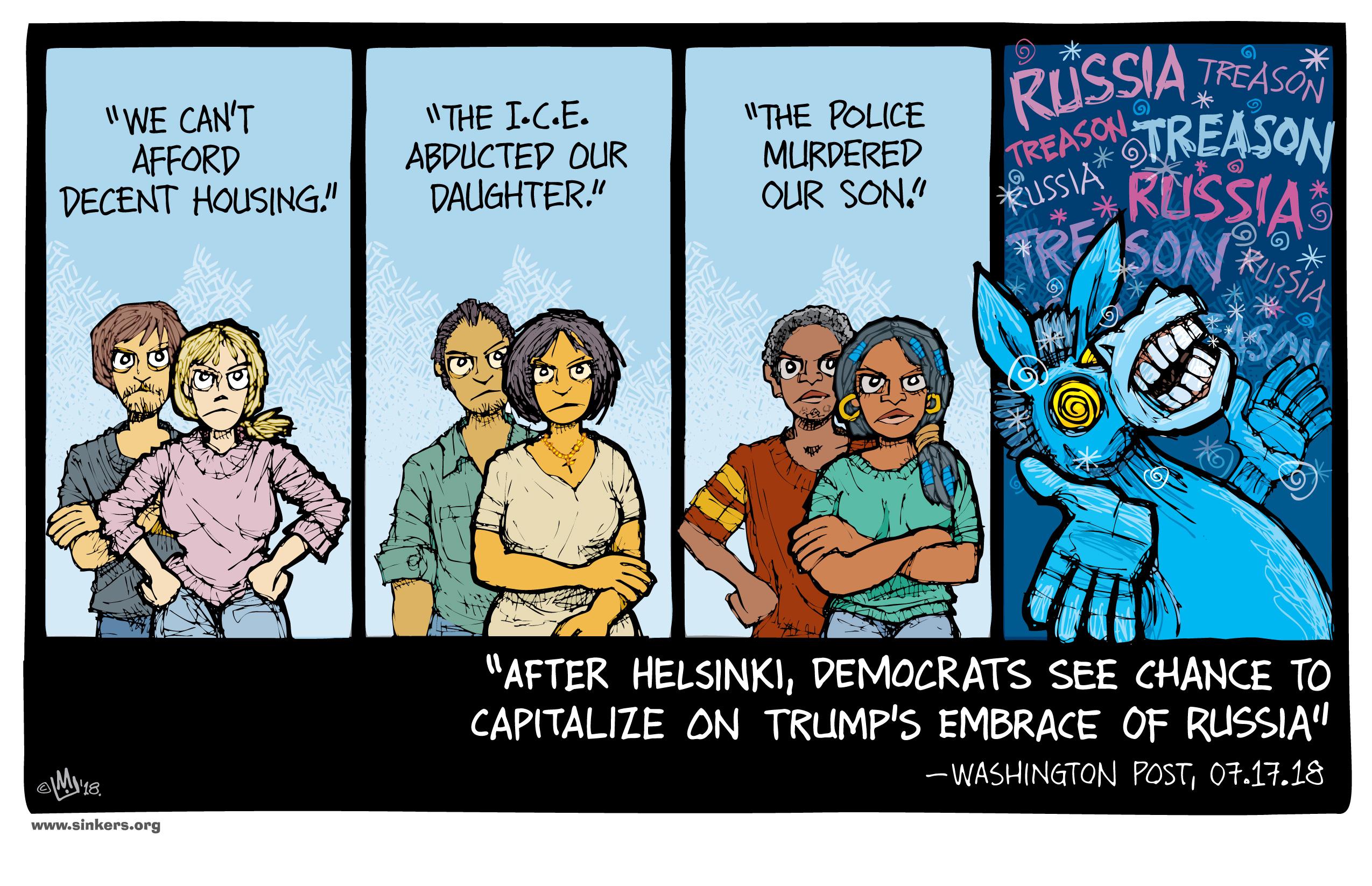 Donald Trump policies, cartoon