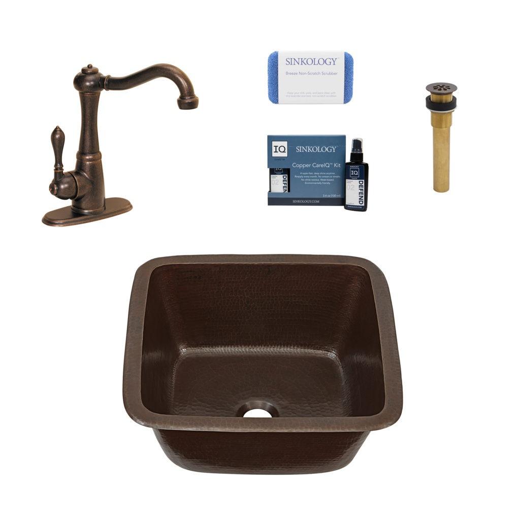 greco copper bar and prep kitchen sink
