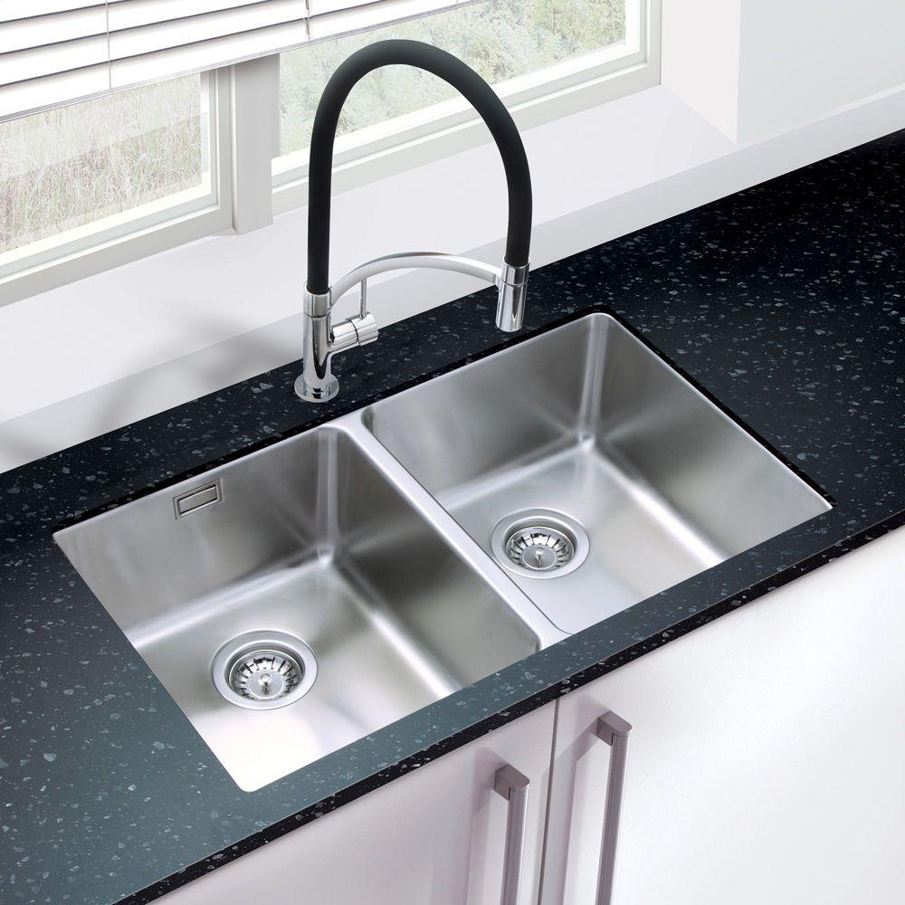 bluci orbit 02 double bowl undermount kitchen sink