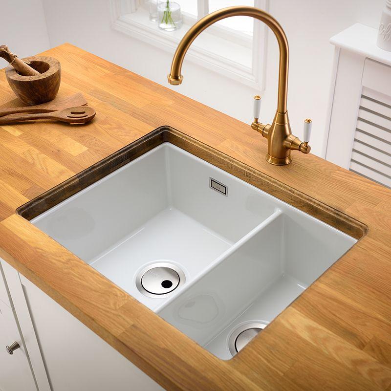 abode sandon large 1 5 bowl ceramic kitchen sink