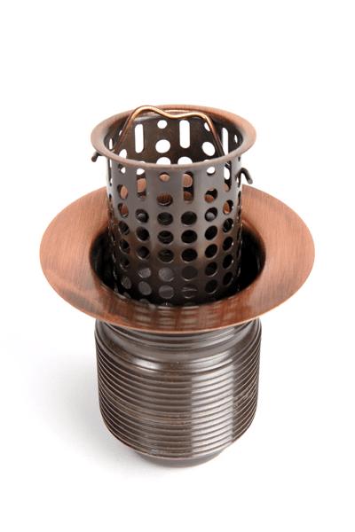 2 lift out basket bar sink drain