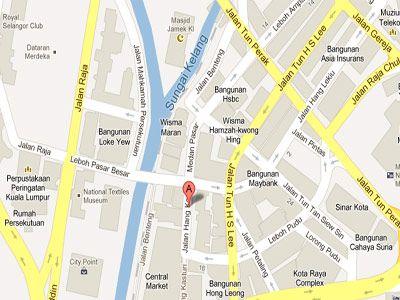 Mapa ubicacion mercado central, KL