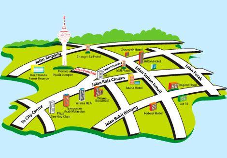 Mapa Torre Menara KL