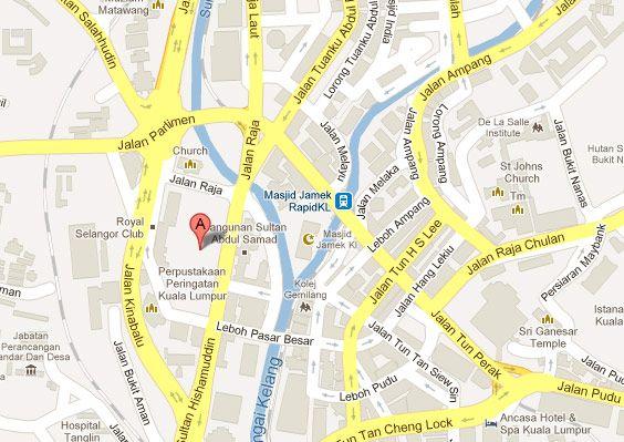 Mapa ubicacion Plaza Merdeka, KL