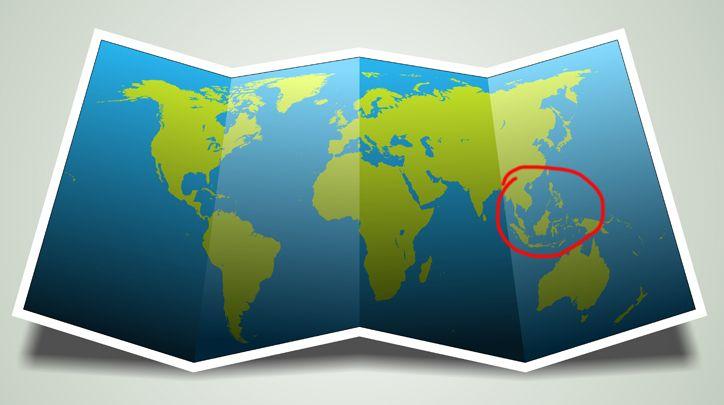 mapa- Sudeste Asiático