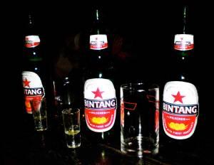 Cervezas Bintang en Gili T - Indonesia