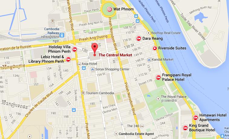 mapa qué ver en Phnom Penh