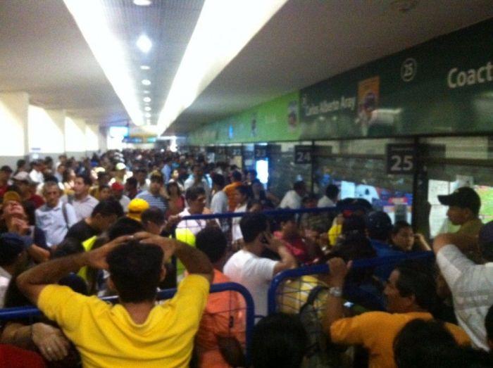 Terminal Terrestre de Guayaquil en Semana Santa