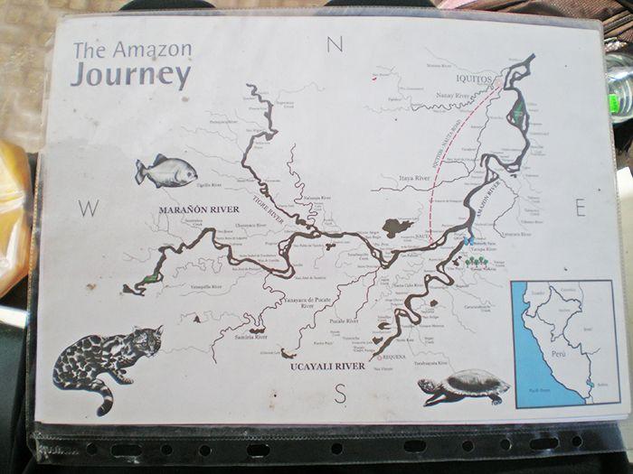 Mapa de ríos del Pacaya Samiria