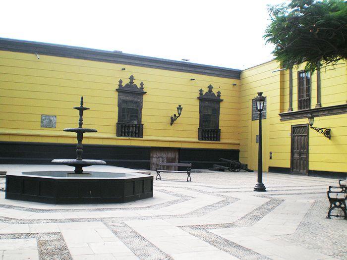 Detalles de los patios de Trujillo en Peru