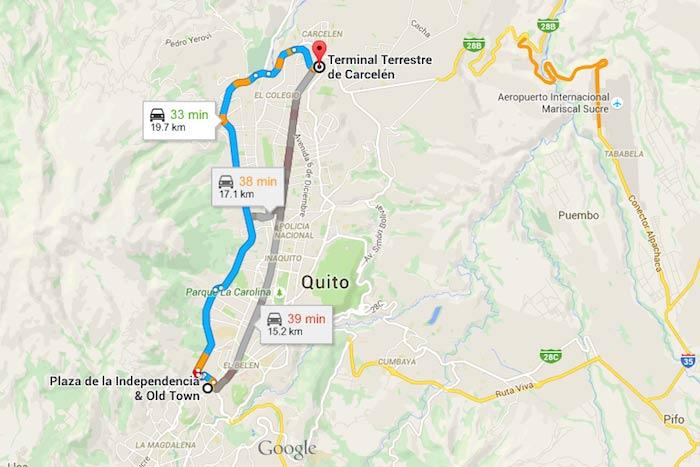 Cómo llegar a Carcelén, Quito