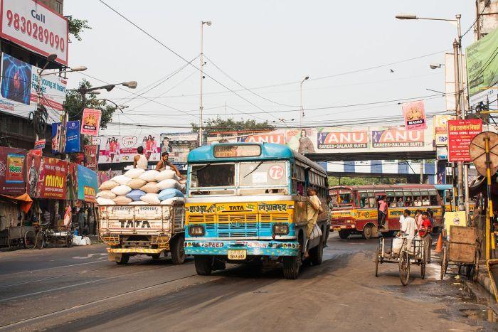 Autobús en Calcuta