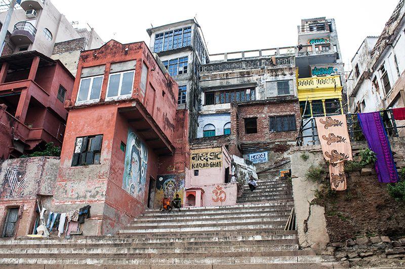 Uno de los más de 100 Ghats en varanasi
