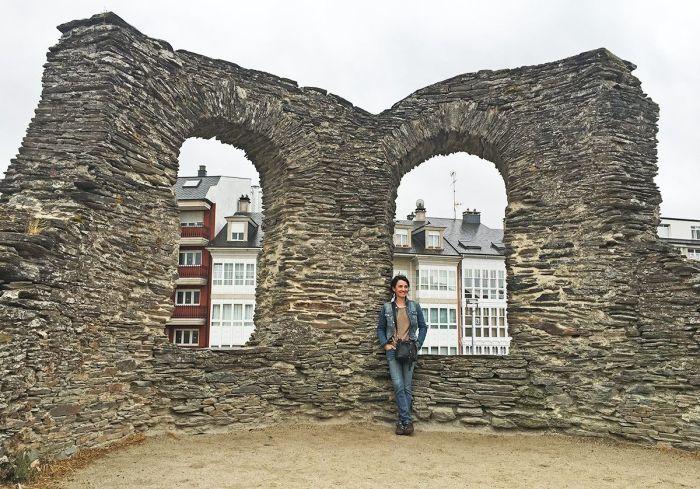 Recorriendo las murallas de Lugo