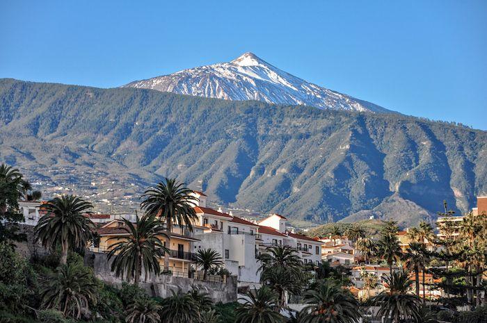 Vista del Teide en Tenerife via Shutterstock