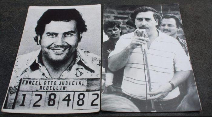 Fotos en blanco y negro de Pablo Escobar en medellín