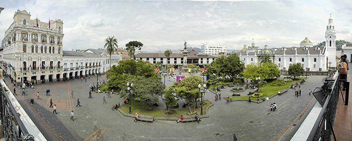 Plaza Grande en Quito, Ecuador