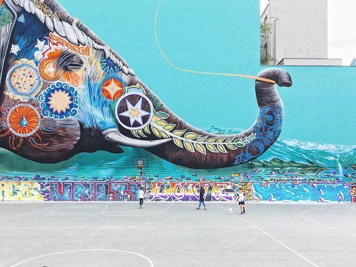 murales en la capital alemana