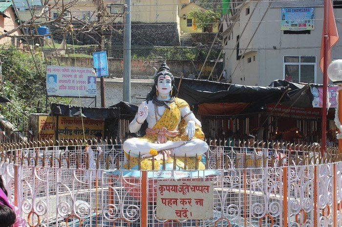 Zona norte de IndiaEsculturas de diosas en Rishikesh
