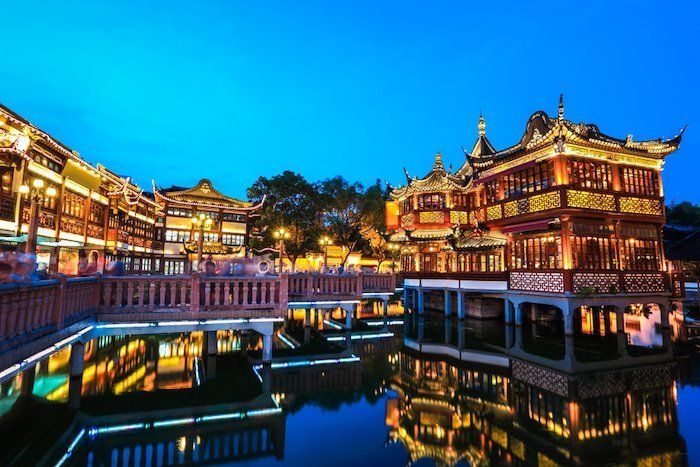 Jardines de Yuyuan en Shanghái