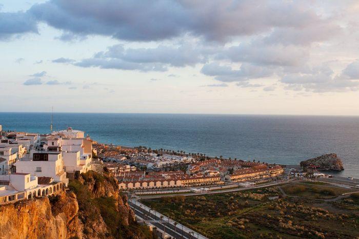 Vistas del mar desde el Castillo de Salobreña, Granada, Andalucía