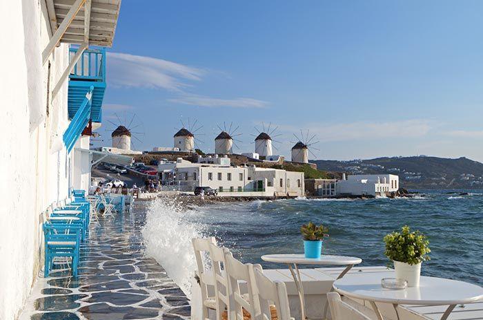Mykonos, Grecia - vacaciones en verano coronavirus