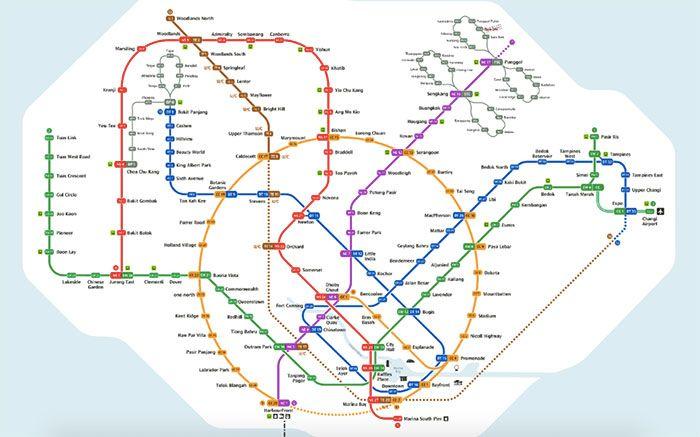 mapa del metro de la ciudad