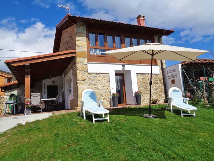 Zona exterior de Casa rural Mirador de Villaverde, Asturias