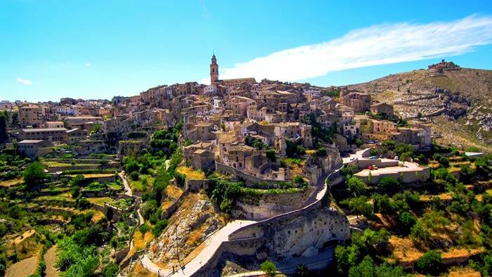 Pueblo de Bocairent en la Comunidad Valenciana