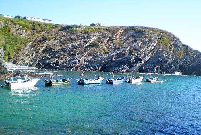 Barcas en el sur de Portugal