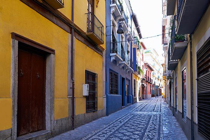 Callecita con encanto en el barrio del Realejo, Granada