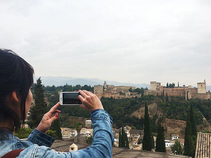 Miradores de Granada, con vistas a la Alhambra
