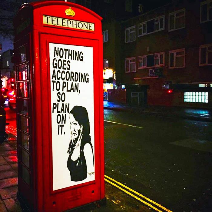 Típica cabina telefónica en Londres