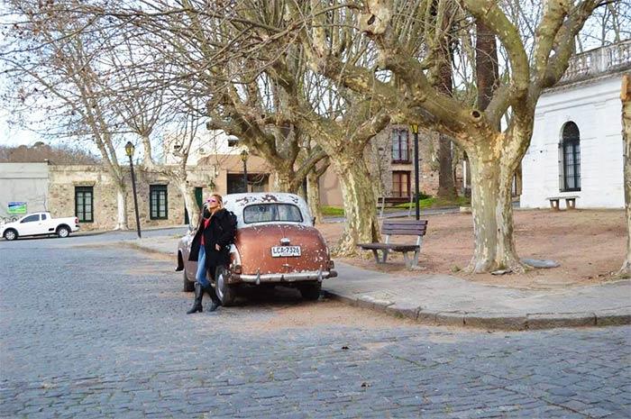 Calles del centro histórico de Colonia, Uruguay