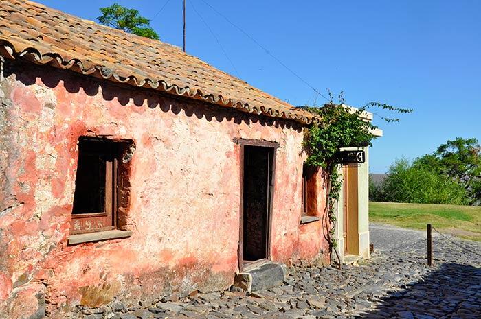 Casa colonial en Colonia del Sacramento, Uruguay