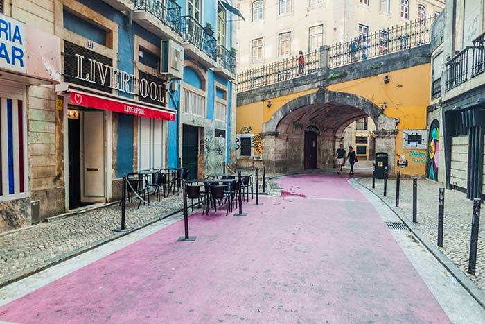 Pink Street en Lisboa
