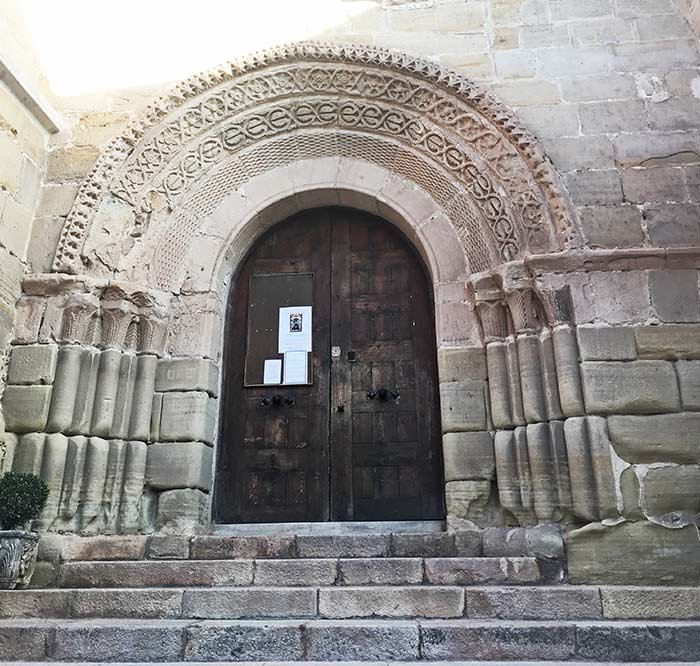 Pórtico de la iglesia de San Vicente en Sigüenza