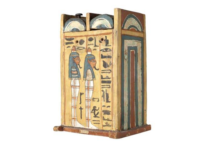 Caja de ushebtis de Khabekhent en el MAN
