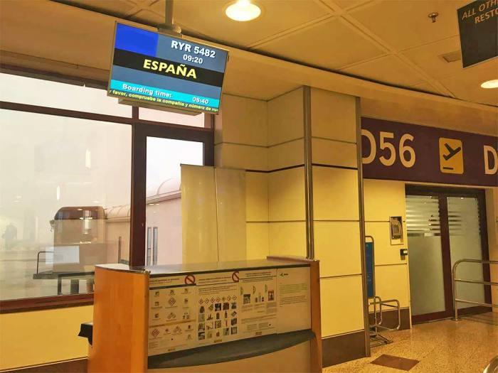 Aeropuerto, destino España